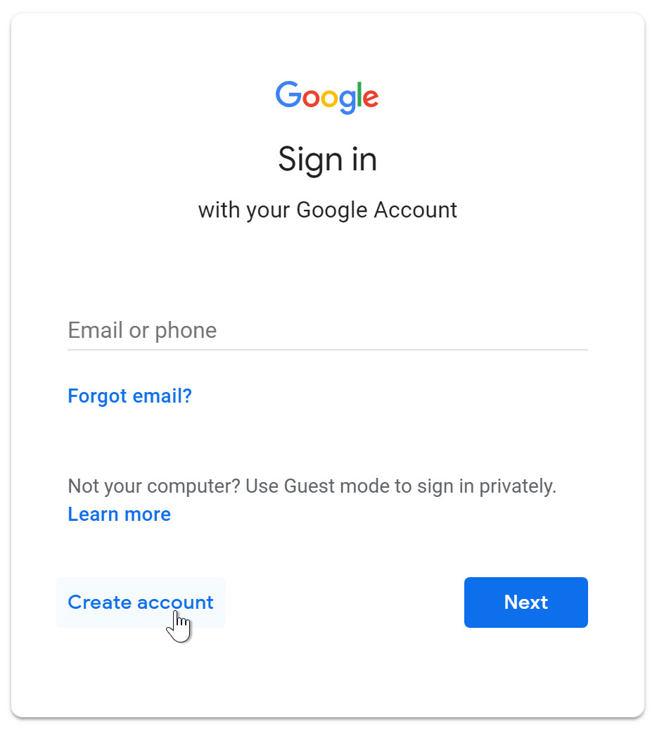 How-to-Create-a-Google-Account-With-Phone-Number